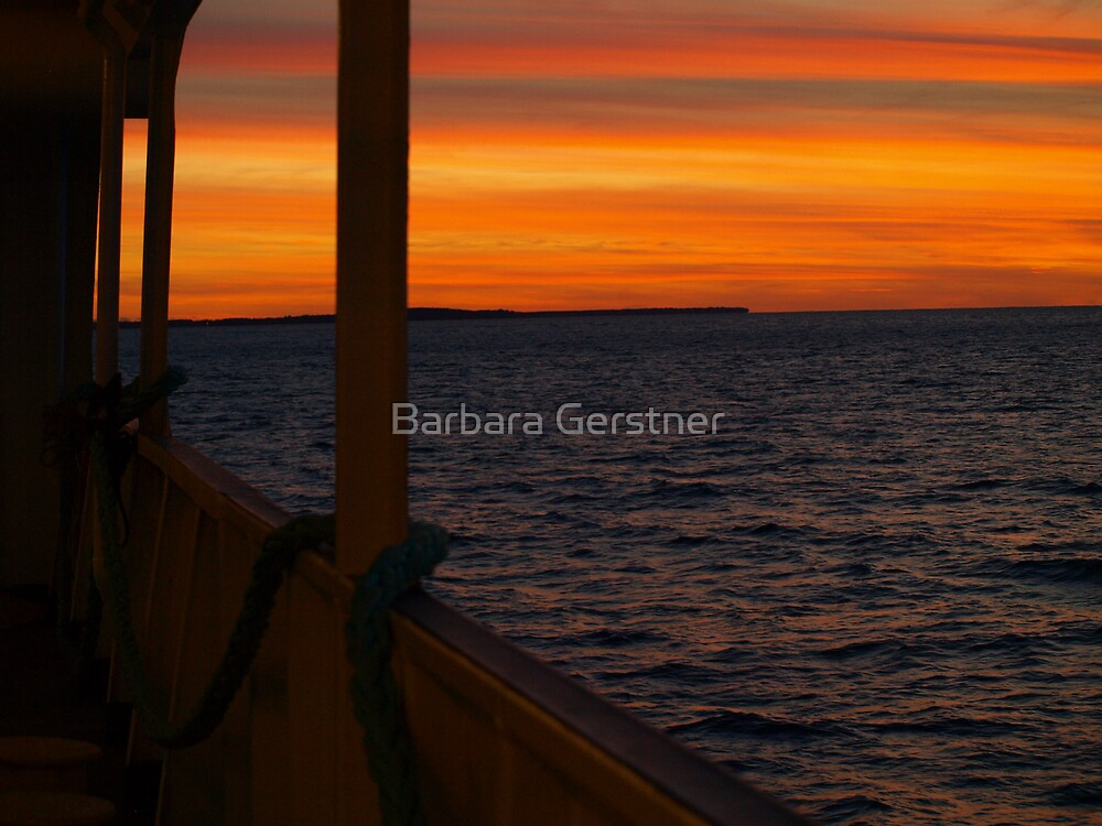 Sunset from the ferry.......As Is by Barbara Gerstner