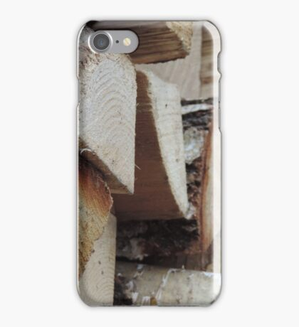 Wooden Logs iPhone Case/Skin