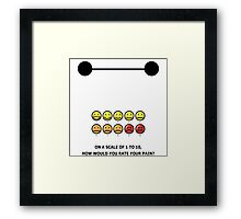 How would you rate your pain? Framed Print