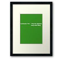 Confession #44 Framed Print