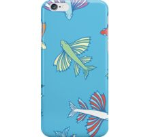 Pattern with fishes iPhone Case/Skin