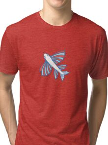 Pattern with fishes Tri-blend T-Shirt