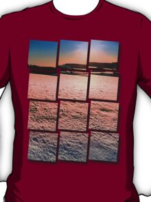 Snow, fields and a winter sunset | landscape photography T-Shirt
