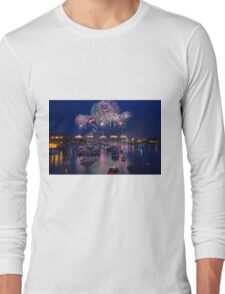 Bay City Michigan Fireworks Celebration Long Sleeve T-Shirt