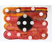 RED AND dots Photographic Print