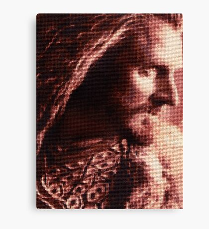 Thorin Oakenshield Stitched look Canvas Print