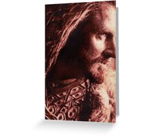 Thorin Oakenshield Stitched look Greeting Card