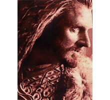 Thorin Oakenshield Stitched look Photographic Print