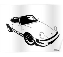 My own 911 in black Poster