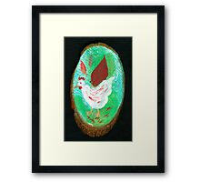 Lucy in the garden Framed Print