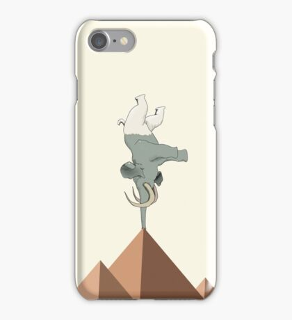 Gym Addict - Yoga Elephant iPhone Case/Skin