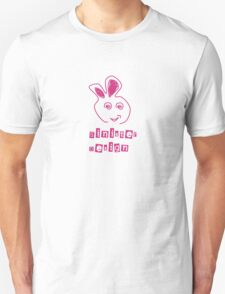 Angry Rubbit 00005 (pink) Unisex T-Shirt