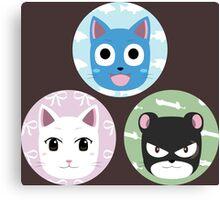 Chibi fairy cats Canvas Print