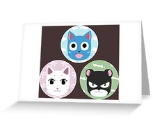 Chibi fairy cats Greeting Card