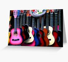 Guitar Vendor Greeting Card