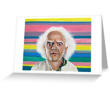 Great Scott :: Doc Brown from Back to the Future Inspired Fan Art Greeting Card