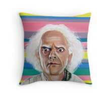 Great Scott :: Doc Brown from Back to the Future Inspired Fan Art Throw Pillow