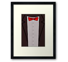 Doctor Who Suit Framed Print