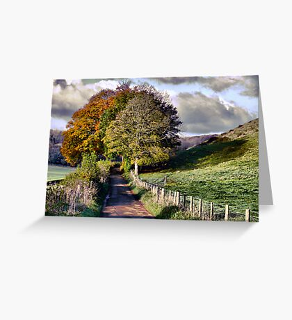 The Road to Delcombe Farm Greeting Card