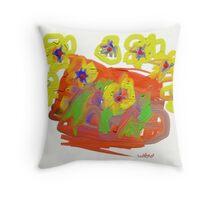 Summer blossoms Throw Pillow