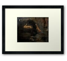 counting the old sorrows Framed Print