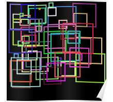 Empty Squares on a black background Poster