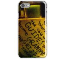 Birch Block Candle Holder and Poem iPhone Case/Skin