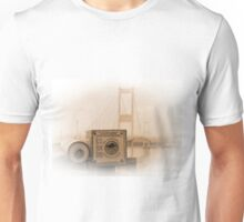 The old Severn Bridge towards Wales Unisex T-Shirt