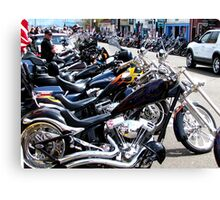 Bikers Arrive In Florence  Canvas Print