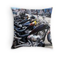 Bikers Arrive In Florence  Throw Pillow
