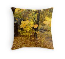 The Golden Carpet Throw Pillow