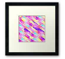 Abstract colorful rainbow watercolor brushstrokes Framed Print