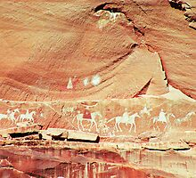 Canyon de Chelley Petroglyphs by Habenero