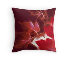 Infrared Leaves Throw Pillow