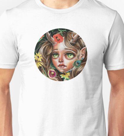 Wild Flower :: Pop Surrealism Little Scamp Unisex T-Shirt