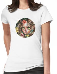 Wild Flower :: Pop Surrealism Little Scamp Womens Fitted T-Shirt