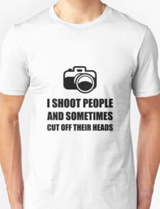 Camera Shoot Cut Head T-Shirt