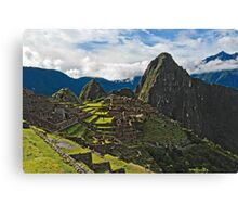 Machu Picchu Archeological site in Peru Canvas Print