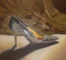 3D Shoe Painting by Karen McGrath