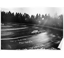 Aston Martin, Karussell Monochrome Poster