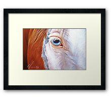 Paint close-up Framed Print
