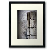Concrete Blocks Framed Print