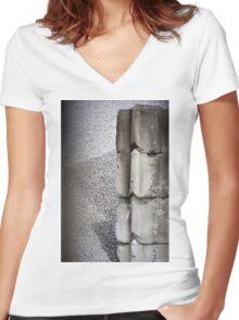 Concrete Blocks Women's Fitted V-Neck T-Shirt