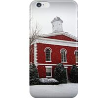 Iron County Courthouse in the Snow iPhone Case/Skin