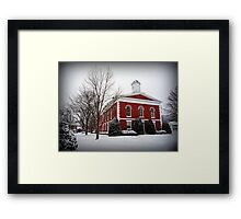 Iron County Courthouse in the Snow Framed Print