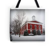 Iron County Courthouse in the Snow Tote Bag