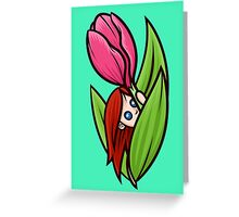 Hiding In The Tulip Greeting Card