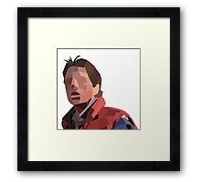 Marty Mcfly Polygons Framed Print