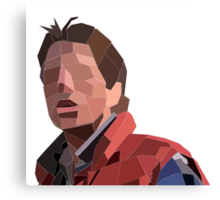 Marty Mcfly Polygons Canvas Print
