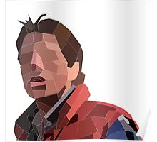 Marty Mcfly Polygons Poster